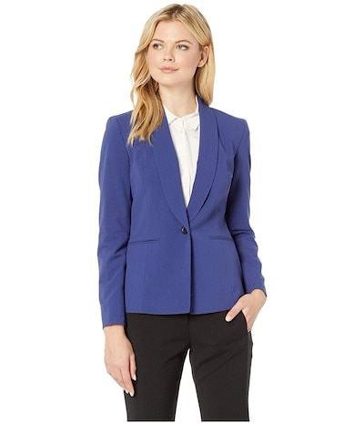 ナインウェスト レディース コート アウター One-Button Shawl Collar Stretch Jacket