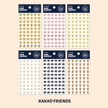【Kakao friends】リトルフレンズフェース透明シール3枚セット/Little friends face transparent sticker 3p set/6種・95X150㎜