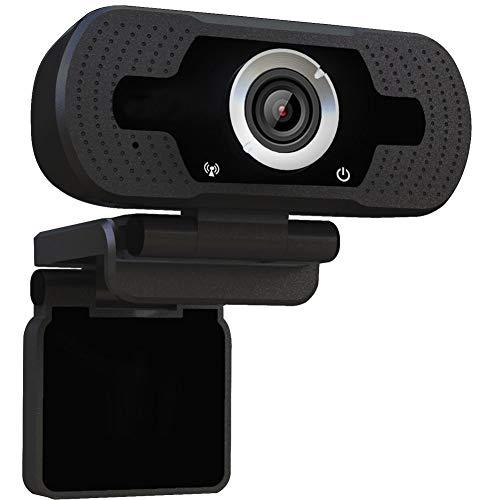 ウェブカメラ WEBカメラ HD1080p 200万画素 小型 シンプル設計 マイク内蔵 4LEDライト付き プラグアンドプレー ブラック Windows 7 8 10、Mac OS 10.6以降など