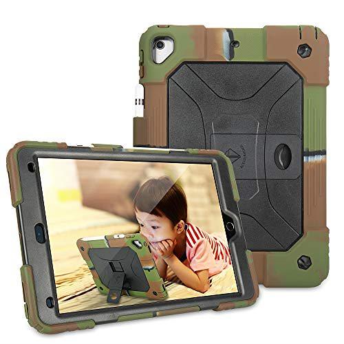 iPad 10.2 ケース iPad 第7世代 2019 新モデ ル用 保護カバー 少女子供向き 耐衝撃性シリコーン 製 全面保護型 (カモフラージュ)
