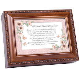 Cottage Garden Love You Much Amber Earth Tone Jeweled Petite Music Box Plays You Light Up My Life