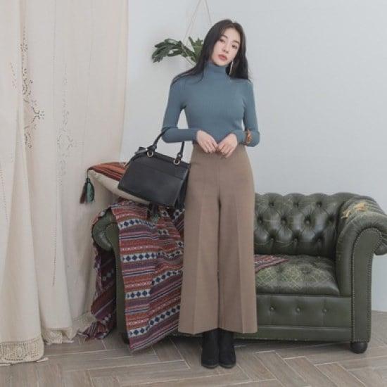 ホワイト・フォックスチョンチョンスリムフィットベーシックポルラニトゥ ニット/セーター/タートルネック/ポーラーニット/韓国ファッション