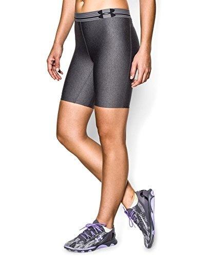 "Under Armour Womens UA HeatGear® Alpha 7""  Short Large Carbon Heather"