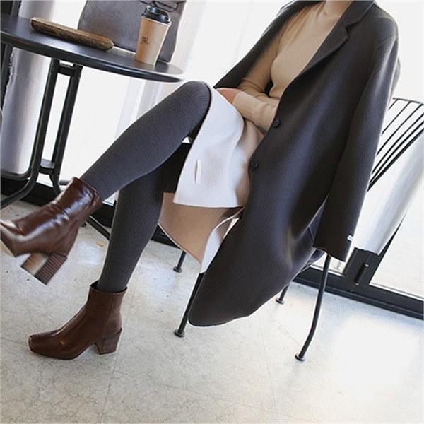 ローシャハンドメードコート1645 new 女性のコート/ 韓国ファッション/ジャケット/秋冬/レディース/ハーフ/ロング/