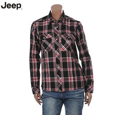 JEEP[AK公式ストア][ジープ] [ジープ]ユニセックスチェックポケットロングスリーブシャツ(JH4SHU133)