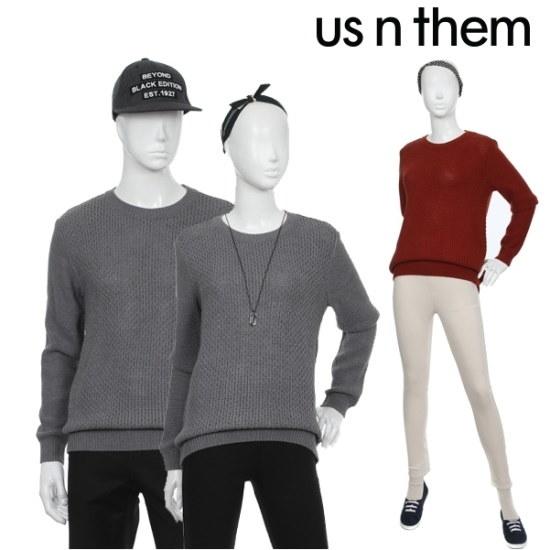 オスエンデム共用組織変形ニット ニット/セーター/ニット/韓国ファッション