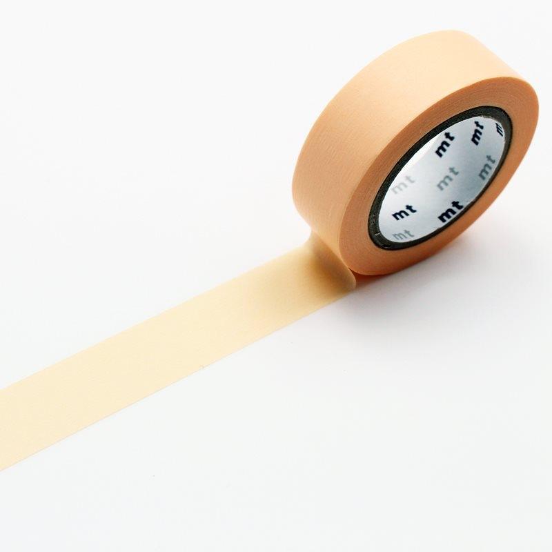 別途送料 [カモ井加工紙] mt basic 1P パステルオレンジ 15mm×10m (MT01P302)