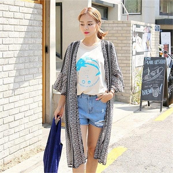 クルリクエンミ竜巻シフォン・ローブカディゴンnew 女性ニット/カーディガン/韓国ファッション