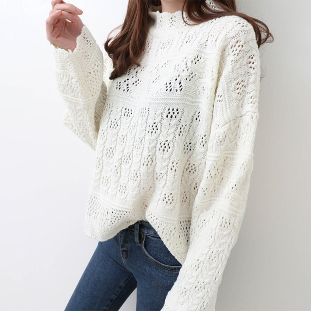 [Deming] Jenny Lace knit two colors