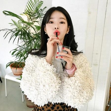 【Imvely]ホワイトプードルニットkorean fashion style