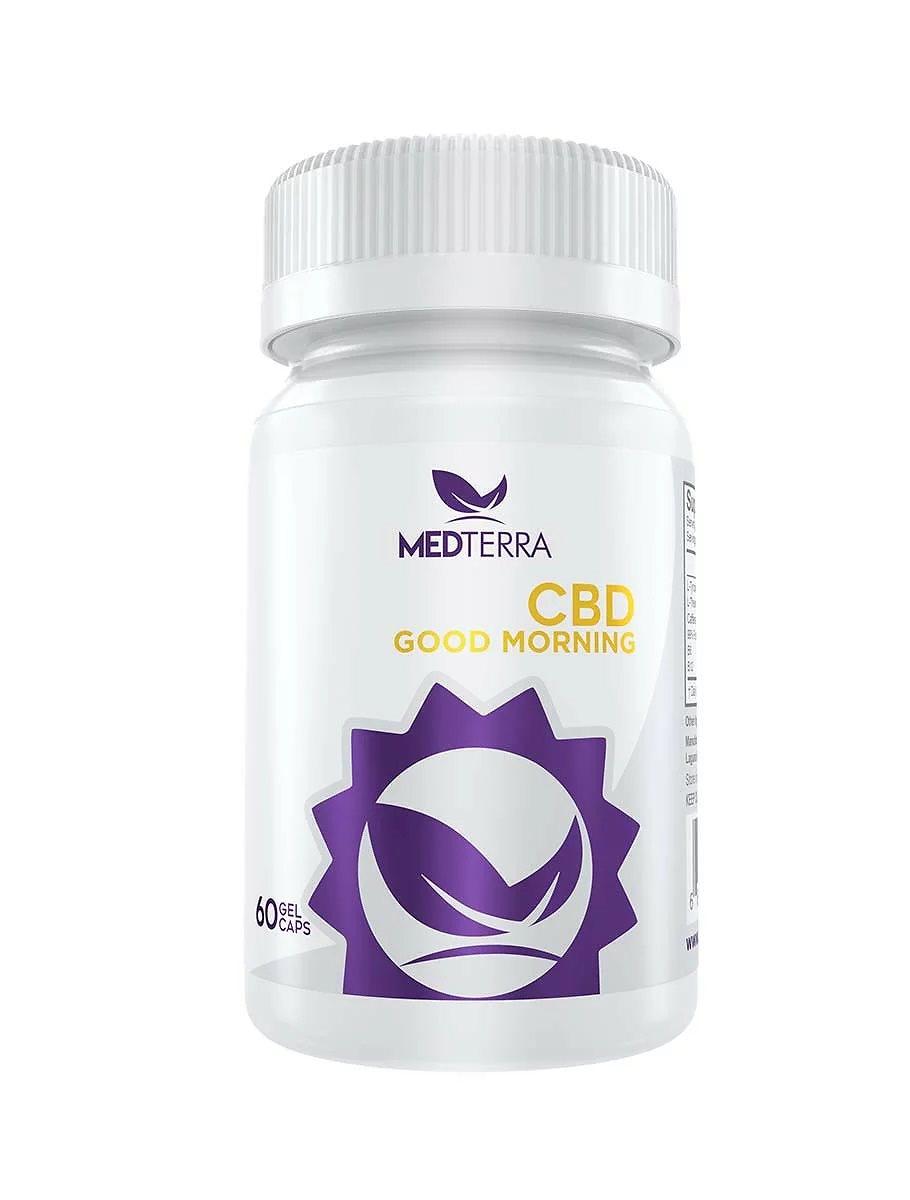 Medterra アメリカケンタッキー州の非遺伝子組換えヘンプ(Hemp)使用! CBDグッドモーニングカプセル 朝専用CBD 100%ナチュラル99%pureCBD CBDオイル