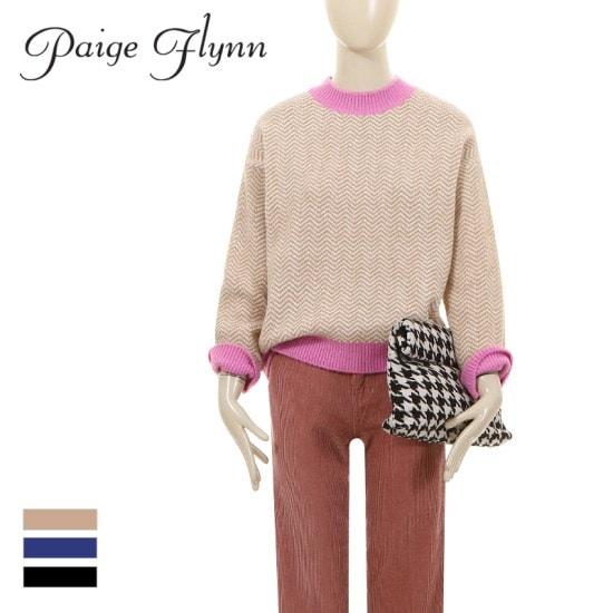 ページフリン感覚的なニットトゥレンディ・ショッパーならゲット!Pattern round neck knit ニット/セーター/パターンニット/韓国ファッション