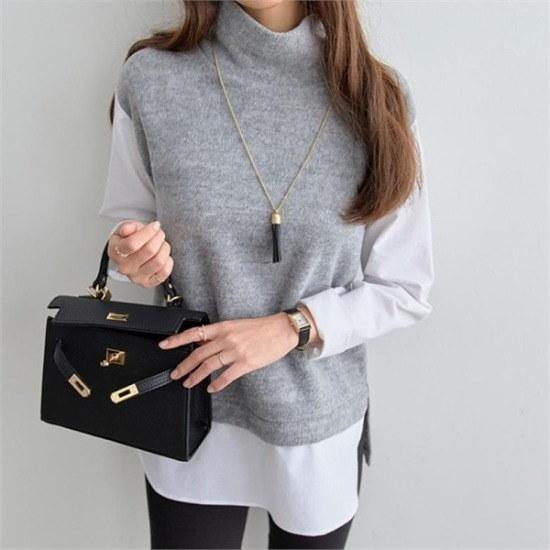 ペッパー行き来するようにペッパーシャツ型トドゥルネクデイリー・ニット104732 ニット/セーター/ニット/韓国ファッション
