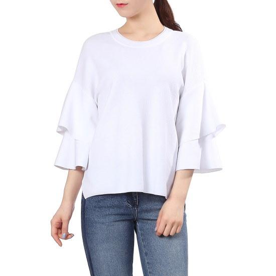 宿小売フリルラブリーニートZ171KSK009 ニット/セーター/韓国ファッション