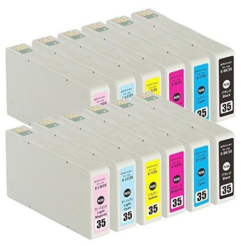 IC6CL35 ×2 / 6色セット EPSON (エプソン) 互換インク 全色染料 【対応インク型番】 ICBK35 ICC35 ICM35 ICY35 ICLC35 ICLM35