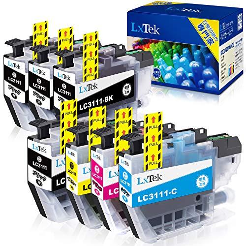 【LxTek】Brother用 ブラザー LC3111 インクカートリッジ 7本セット (4色セット ?3本) LC3111-4PK 『互換インク/2年保証/大容量/残量表示/個包装』