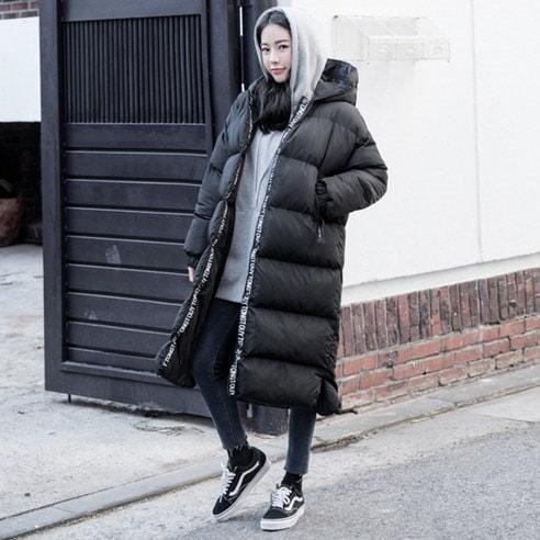 【WhiteFox]タイポラインポイントフードウェルロンパディングkorea fashion style free shipping