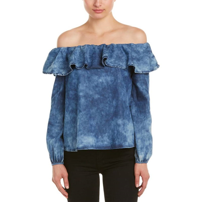 DO+BE レディース トップス ブラウス【DO+BE Off-the-Shoulder Top】Blue
