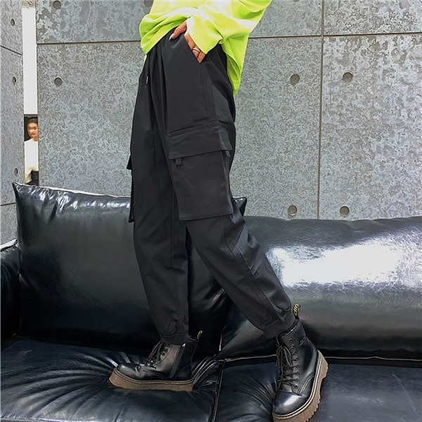 a789a114196 2018 韓国 ストリート スタイル スケーター ステージ衣装 ダンス衣装 ガールズ ファッション HIPHOP 長ズボン ロングパンツ