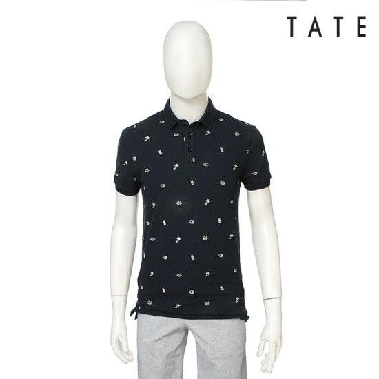 ・テイト・テイト男女共用カラパターン半袖ティーシャツKA4U4UKP850410 テーラードジャケット/ 韓国ファッション