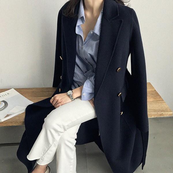 [送料無料]★韓国ファッション通販業界1位 『Naning9』★ハボプハンドメードコート/ おしゃれなシルエットのファッションコーデー提案!ハイクォリティー/韓国ファッション/オフィスルック/ レ