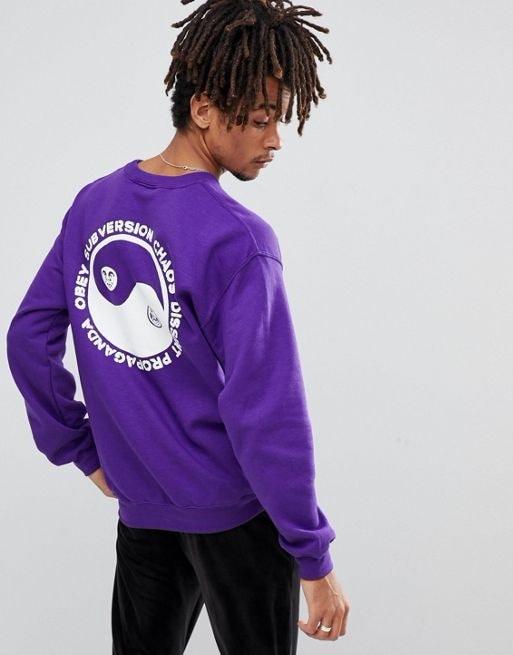 Obey Subversion Sweatshirt With Yin Yang Back Print