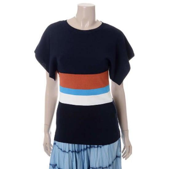 メゾン・つけたカラー・ブロックケープ型プルオーバーMHBKL462 ニット/セーター/韓国ファッション