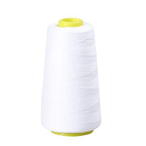 Artibetter 縫い糸 ミシン糸 ポリエステル素材 裁縫道具 業務用 手縫い糸 ホワイト 3000ヤードホワイト