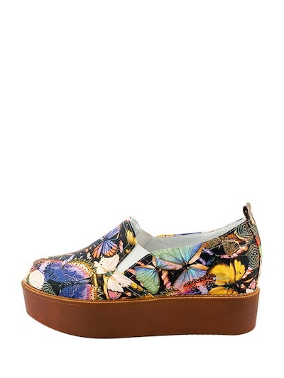 Chromatic Exquisite Abstract Print Thick Sole Slip On Women s Sneakers
