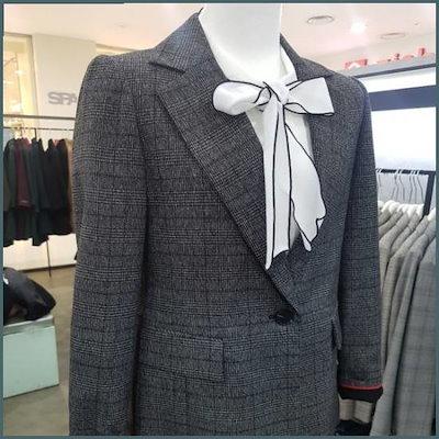 チェックのジャケット /テーラードジャケット/ 韓国ファッション