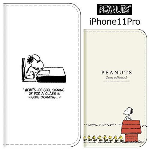 【カラー:ドッグハウス】iPhone11Pro ピーナッツ 手帳型 ケース カバー キャラクター 手帳型ケース 手帳ケース ダイアリー フリップ カード収納 グッズ スヌーピー ジョー・クール