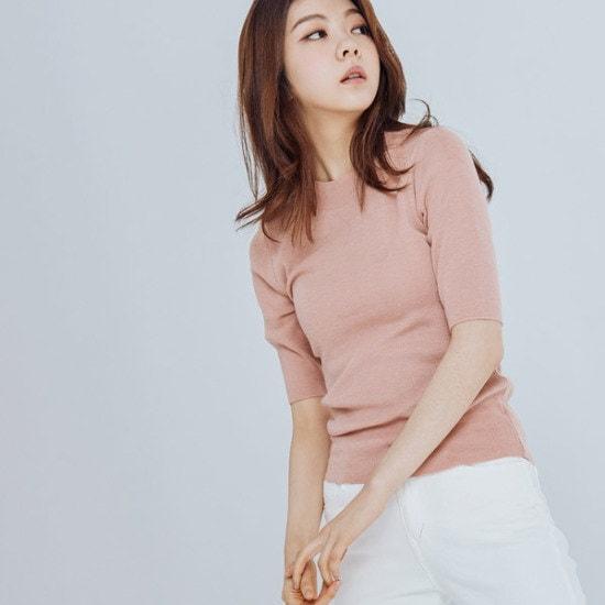 メグジェイMAGJAYラウンド5部ニートJ91PNT068 ニット/セーター/韓国ファッション