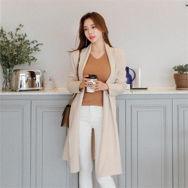 キャシー・ショールカディゴンカディゴンショールカディゴンロングカディゴンニートカディゴンnew 女性ニット/カーディガン/韓国ファッション