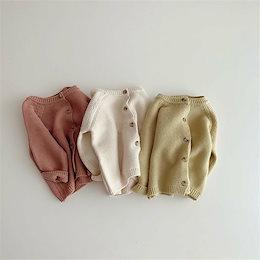 春と秋の子供服、男の子と女の子の韓国のソリッドカラーのカーディガン、ベビーニットジャケット