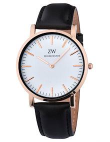 a5515234e1 W480 Zeiger 腕時計 メンズ 女性通用 アナログ ウオッチ 30M防水レザーバンド ファッション フォーマル ビジネス 通勤