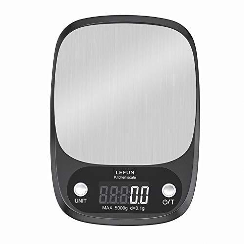 Lefun キッチンスケール 0.1g 高精度センサー デジタルクッキングスケール 5000g 電子はかり 風袋引き機能
