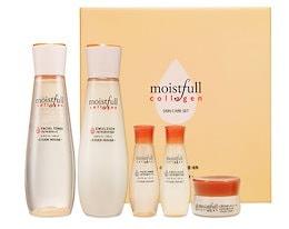 [韓国コスメ エチュードハウス] MOISTFULL COLLAGEN モイストフル 水分いっぱい コラーゲン 化粧水+乳液+ミニサンプル=2種セット スキンケア