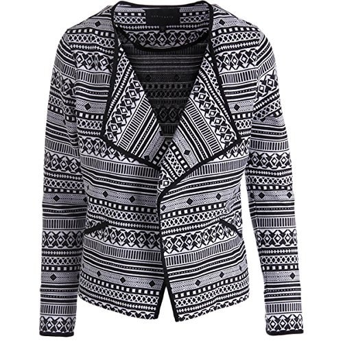 Sanctuary Clothing Womens Graphic West Jacket, Moonrise/Onyx, Medium