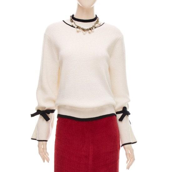 フォーカスリボン小売配色ニートSFGW1KT9251 ニット/セーター/韓国ファッション