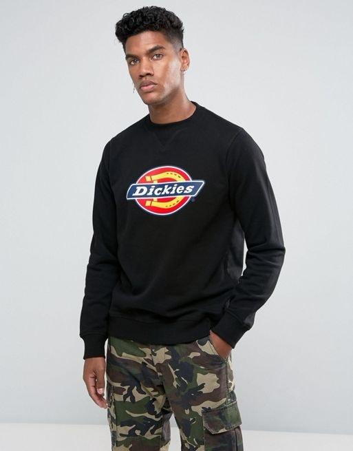 Dickies Harrison Sweatshirt With Large Logo in Black
