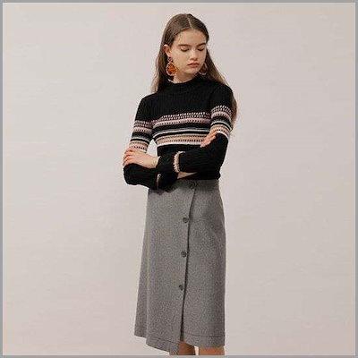 [オンエンオン]ボタンラムスカート(NW8WS337) / Aラインスカート/フレアスカート/スカート/韓国ファッション