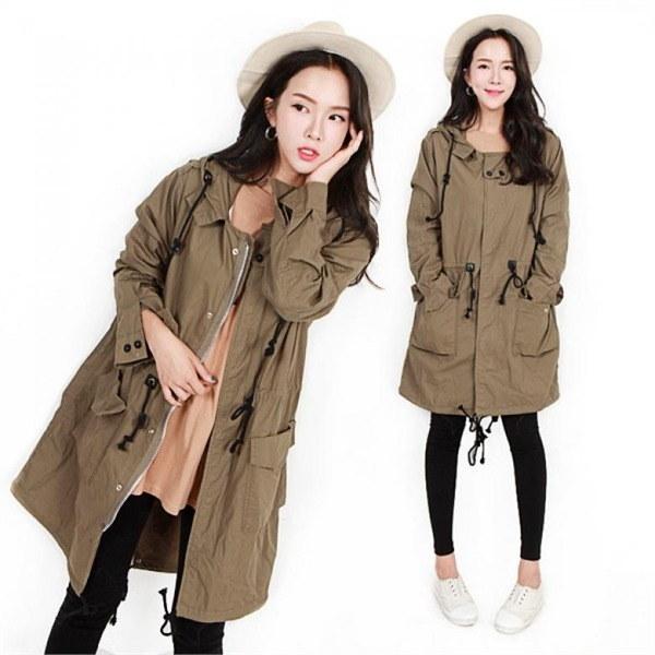 TG、タミロングさん 女性のコート/ 韓国ファッション/ジャケット/秋冬/レディース/ハーフ/ロング/