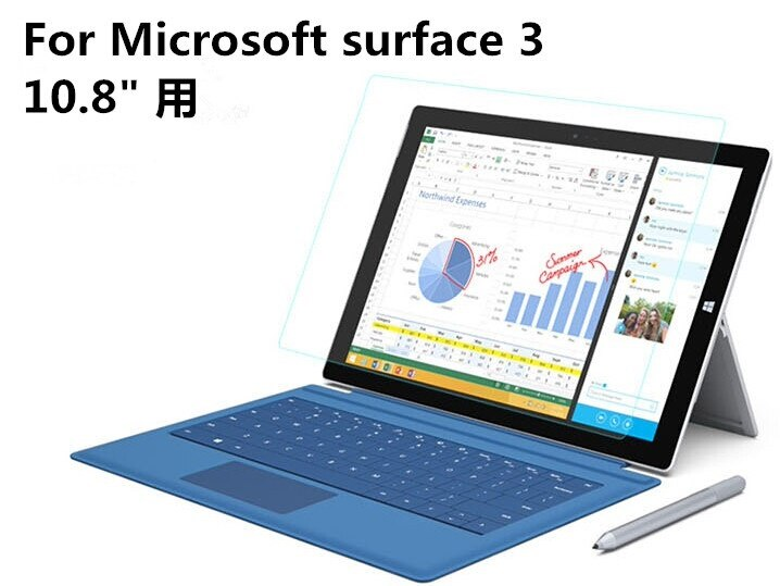 Microsoft Surface 3 10.8液晶画面保護フィルム/シール/シート/Surface 3 (4G LTE)10.8指紋防止/光沢【管理番号:A498】