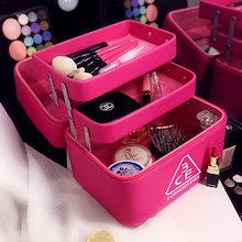 収納ケース 3層 大容量 コスメボックス ジュエリー ボックス 化粧道具入れ 化粧品収納 メイクボックス 持ち運び 雑貨 小物入れ