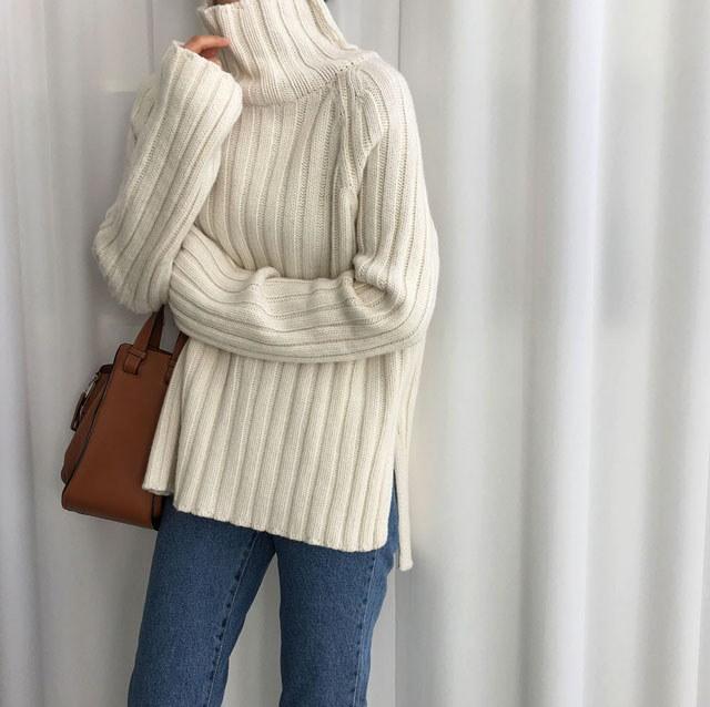 [ラルム】ビバポーラニット4col korea fashion style