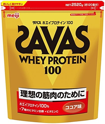 ザバス ホエイプロテイン100 ココア味 2520g (約120食分)