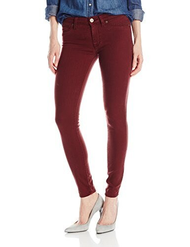 Hudson Womens Nico Midrise Super Skinny Jean, Crimson, 25