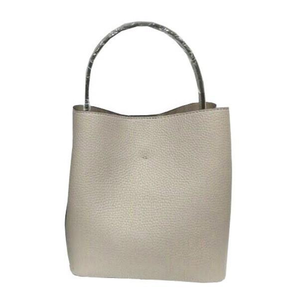 柔らか素材のダブルポケット2wayトート〔Lサイズ〕 グレイ