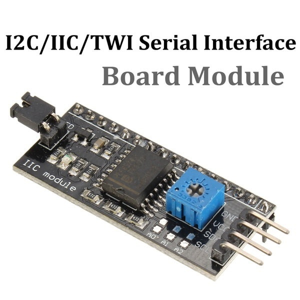 "5V I2C / IIC / TWIシリアルインタフェースボードモジュールArduino R3 LCD 1602用54x19 mm / 1.62 ""x0.57"""