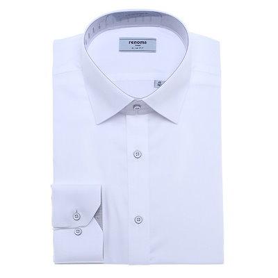 [AK公式ストア]【renoma shirts]身上ソリッドスリムフィット長袖RJSSL1-950-WH